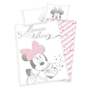 Herding Minnie Mouse gyerek pamut ágyneműhuzat a kiságyba, 100 x 135 cm, 40 x 60 cm