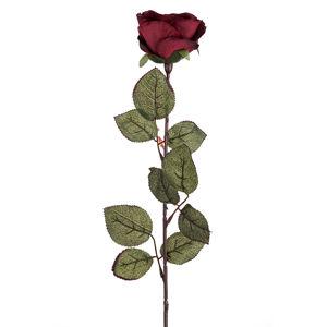 Művirág - Nagyvirágú rózsa, 72 cm, bordó