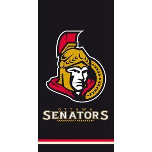 NHL Ottawa Senators Black törölköző, 70 x 140 cm