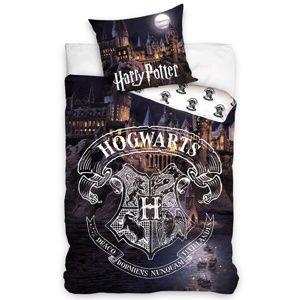 Pamut ágyneműhuzat Harry Potter Roxfort, 140 x 200 cm, 70 x 90 cm