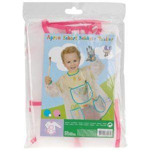 Pockets gyermek kötény festéshez, rózsaszín
