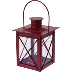Redline fém lámpás teamécseshez, piros, 10 x 14 cm
