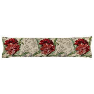 Rózsa dekor ablakszigetelő párna, piros, 22 x 90 cm
