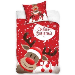 Rudolf, a rénszarvas karácsonyi pamut ágynemű, 140 x 200 cm, 70 x 90 cm