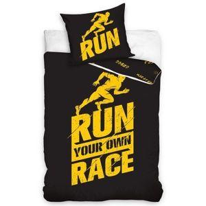 Run perkál ágynemű, fekete, 140 x 200 cm, 70 x 90 cm