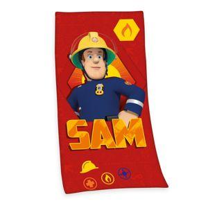 Sam, a tűzoltó törölköző, piros, 75 x 150 cm