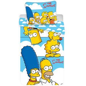 Simpsons Family clouds gyermek pamut ágynemű, 140 x 200 cm, 70 x 90 cm