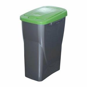 Szelektív hulladékgyűjtő kosár 61,5 x 42 x 25 cm, zöld fedél, 40 l