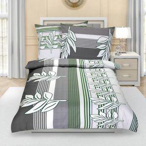 Szirom pamut ágynemű, szürkészöld, 140 x 200 cm, 70 x 90 cm, 140 x 200 cm, 70 x 90 cm