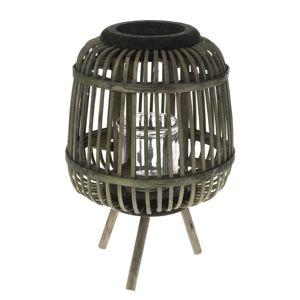 Tumba bambusz lámpás üveggel, 19 x 22 cm