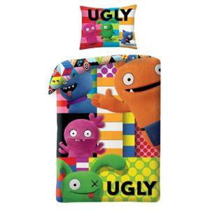 Ugly Dools Patchwork gyermek pamut ágynemű, 140 x 200 cm, 70 x 90 cm
